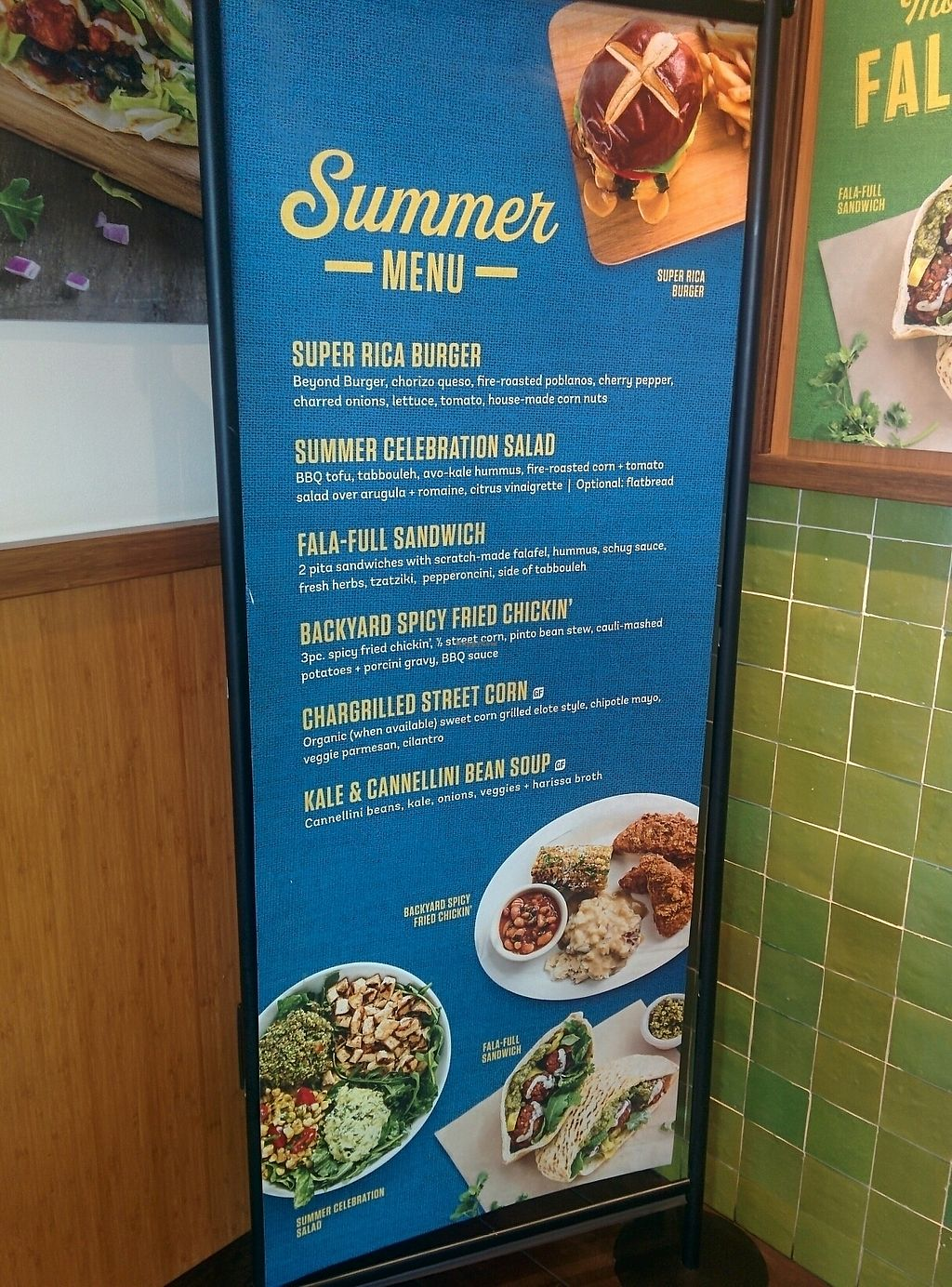 """Photo of Veggie Grill - Westgate Shopping Center  by <a href=""""/members/profile/MizzB"""">MizzB</a> <br/>summer specials menu <br/> August 11, 2017  - <a href='/contact/abuse/image/58253/291404'>Report</a>"""