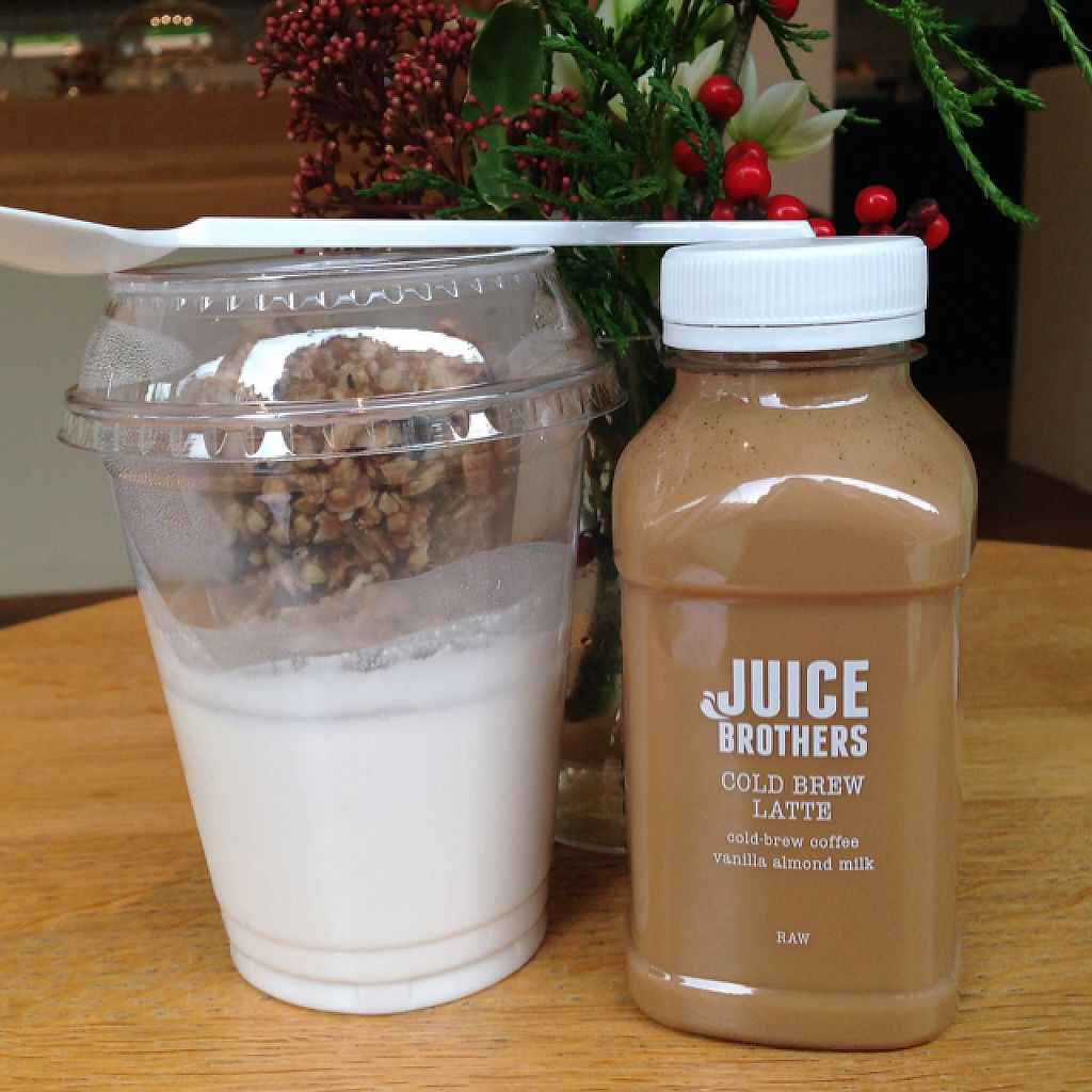 "Photo of Juice Brothers - Van Woustraat  by <a href=""/members/profile/Domsy"">Domsy</a> <br/>A delicious breakfast: coconut yoghurt with granola and a cold brew latte <br/> December 21, 2016  - <a href='/contact/abuse/image/58258/203383'>Report</a>"