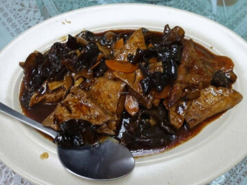 """Photo of Jing Xin Vegetarian Cuisine  by <a href=""""/members/profile/JimmySeah"""">JimmySeah</a> <br/>bean curd with black fungus <br/> October 24, 2015  - <a href='/contact/abuse/image/58264/122569'>Report</a>"""