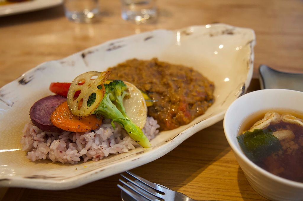 """Photo of Chamama Vege Cafe  by <a href=""""/members/profile/SarahSan"""">SarahSan</a> <br/>Vegan Curry dish <br/> November 12, 2017  - <a href='/contact/abuse/image/58266/324496'>Report</a>"""
