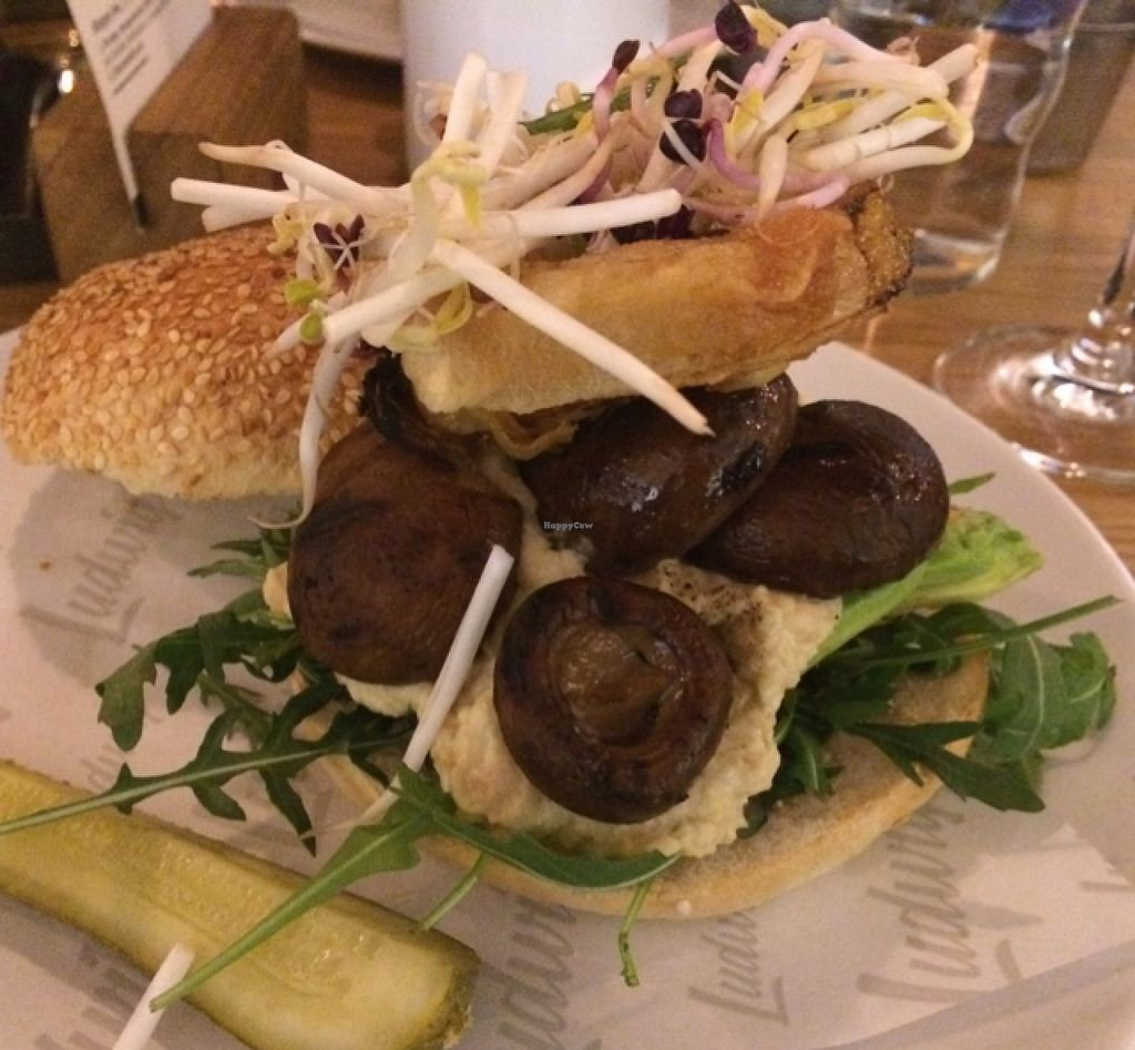 """Photo of Ludwig Burger & Beer  by <a href=""""/members/profile/mjon"""">mjon</a> <br/>vegan burger <br/> February 19, 2016  - <a href='/contact/abuse/image/58270/136885'>Report</a>"""