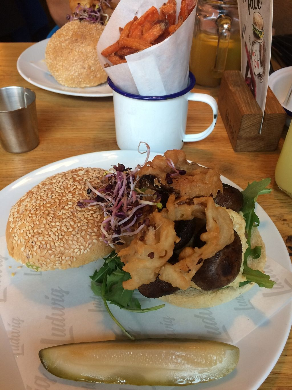 """Photo of Ludwig Burger & Beer  by <a href=""""/members/profile/Marin100"""">Marin100</a> <br/>vegan burger <br/> July 21, 2017  - <a href='/contact/abuse/image/58270/282962'>Report</a>"""