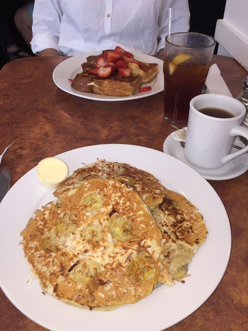 "Photo of Maywood Pancake House  by <a href=""/members/profile/Lizziebenson"">Lizziebenson</a> <br/>vegan banana coconut pancakes  <br/> August 28, 2017  - <a href='/contact/abuse/image/58273/298267'>Report</a>"