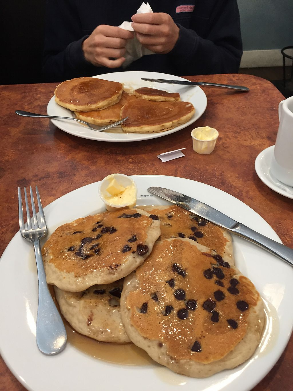 "Photo of Maywood Pancake House  by <a href=""/members/profile/Lizziebenson"">Lizziebenson</a> <br/>vegan chocolate chip pancakes!! <br/> August 28, 2017  - <a href='/contact/abuse/image/58273/298268'>Report</a>"