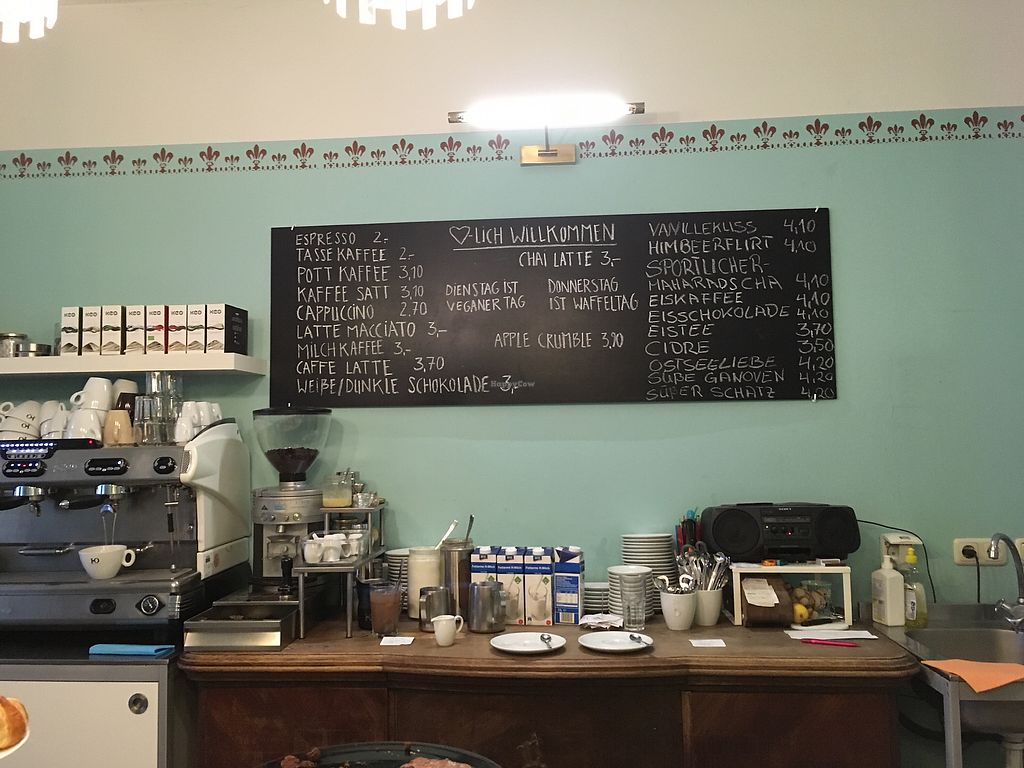 "Photo of Cafe Gluecklich  by <a href=""/members/profile/monisonfire"">monisonfire</a> <br/>menu / counter <br/> October 31, 2017  - <a href='/contact/abuse/image/58329/320480'>Report</a>"
