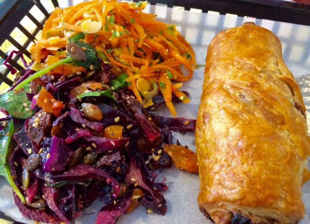 """Photo of Bread and Banjo Bakery  by <a href=""""/members/profile/CiaraSlevin"""">CiaraSlevin</a> <br/>vegetable roll & side salads <br/> August 15, 2015  - <a href='/contact/abuse/image/58353/113665'>Report</a>"""