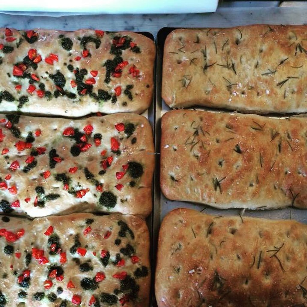 """Photo of Bread and Banjo Bakery  by <a href=""""/members/profile/gingergrace"""">gingergrace</a> <br/>Focaccia freshly baked  <br/> September 19, 2015  - <a href='/contact/abuse/image/58353/118405'>Report</a>"""