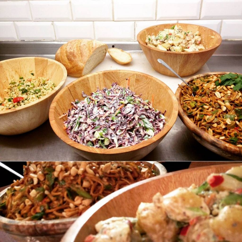 """Photo of Bread and Banjo Bakery  by <a href=""""/members/profile/gingergrace"""">gingergrace</a> <br/>Meals for only 4 pound! Salads, noodles, etc.  <br/> September 19, 2015  - <a href='/contact/abuse/image/58353/118406'>Report</a>"""