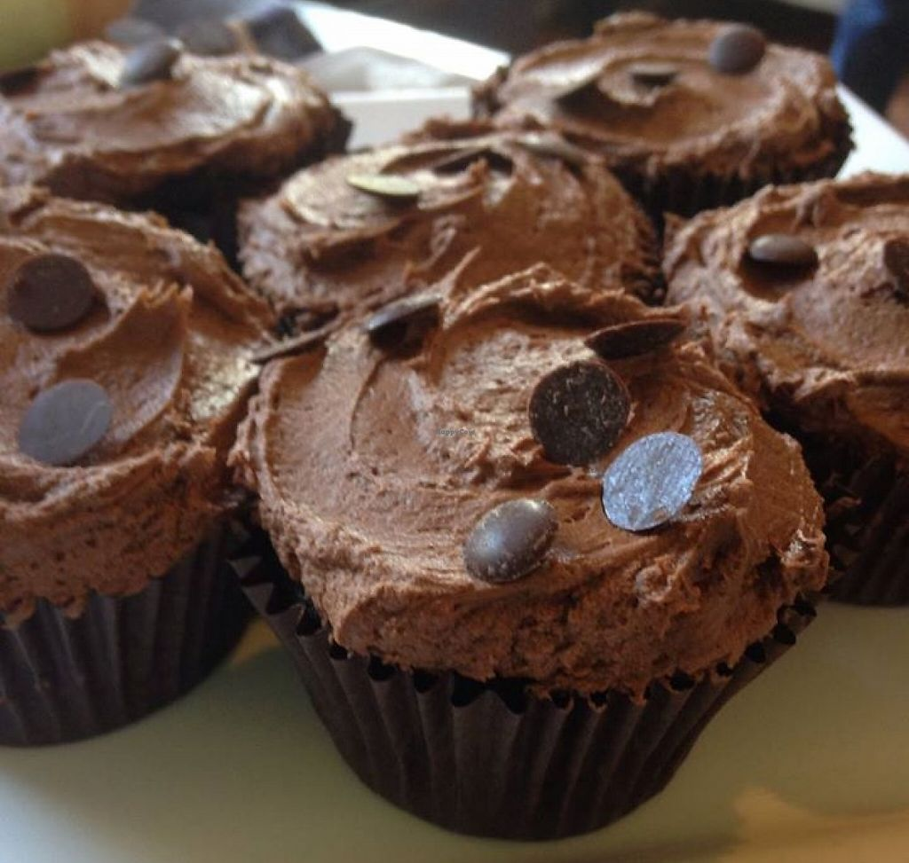 """Photo of Bread and Banjo Bakery  by <a href=""""/members/profile/gingergrace"""">gingergrace</a> <br/>*Vegan* Chocolate Cupcakes with vegan buttercream!  <br/> September 19, 2015  - <a href='/contact/abuse/image/58353/240264'>Report</a>"""
