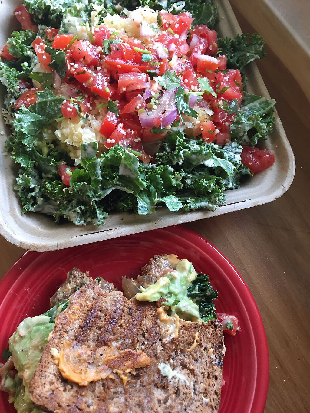 "Photo of La Vida Veggie  by <a href=""/members/profile/TiffanyJanay"">TiffanyJanay</a> <br/>avocado melt and a kale salad. my favs! <br/> June 26, 2017  - <a href='/contact/abuse/image/58366/273553'>Report</a>"