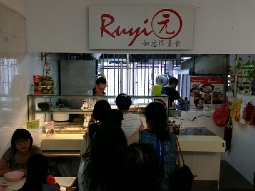 "Photo of Ruyi Yuan Vegetarian Stall  by <a href=""/members/profile/JimmySeah"">JimmySeah</a> <br/>Lunch time queue ahead of me <br/> November 5, 2015  - <a href='/contact/abuse/image/58378/123960'>Report</a>"