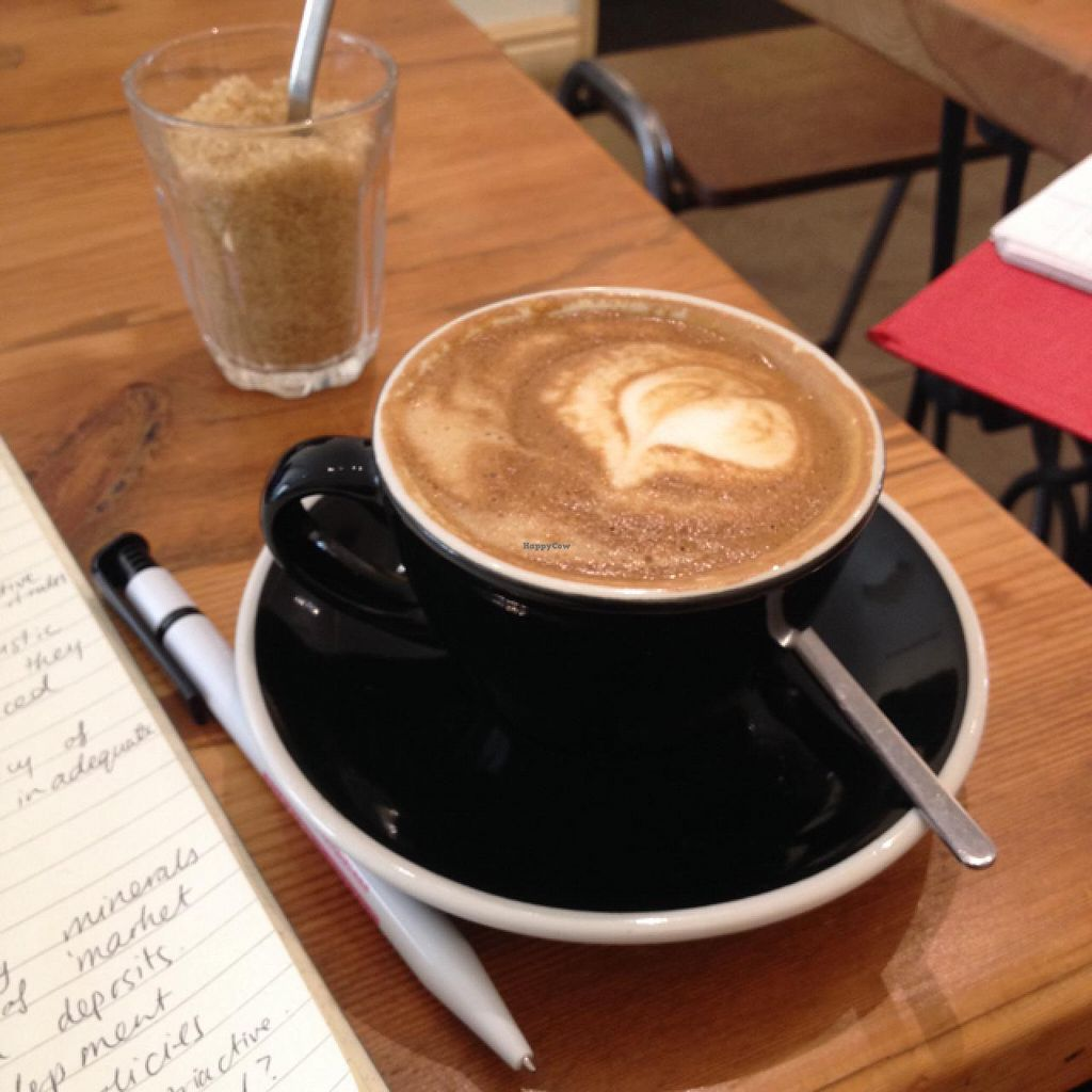 "Photo of Hot Numbers Coffee - Trumpington St  by <a href=""/members/profile/chapstick"">chapstick</a> <br/>soy flat white (delicious!) <br/> May 25, 2015  - <a href='/contact/abuse/image/58381/103382'>Report</a>"
