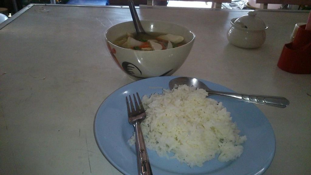 """Photo of CLOSED: Tai Food  by <a href=""""/members/profile/Roevin46"""">Roevin46</a> <br/>Soup with rice <br/> May 14, 2015  - <a href='/contact/abuse/image/58404/102247'>Report</a>"""