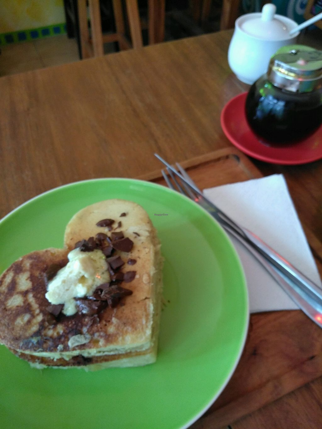 """Photo of The Kismet Cafe  by <a href=""""/members/profile/RenataScotti"""">RenataScotti</a> <br/>vegan chocolate chip pancakes  <br/> March 9, 2018  - <a href='/contact/abuse/image/58429/368325'>Report</a>"""
