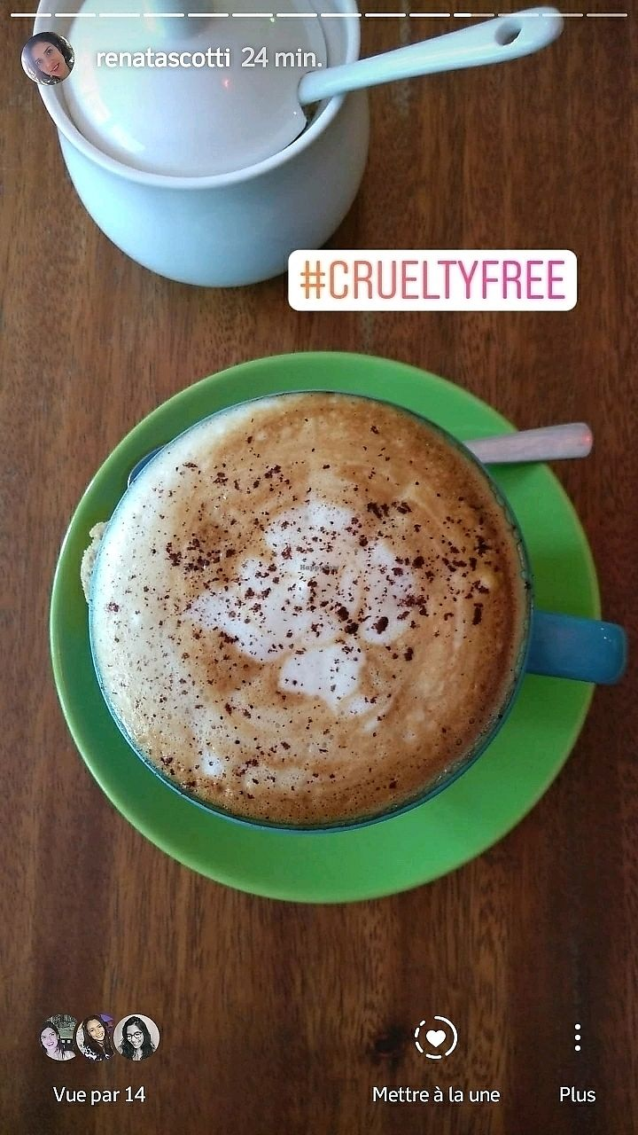"""Photo of The Kismet Cafe  by <a href=""""/members/profile/RenataScotti"""">RenataScotti</a> <br/>vegan cappuccino  <br/> March 9, 2018  - <a href='/contact/abuse/image/58429/368326'>Report</a>"""
