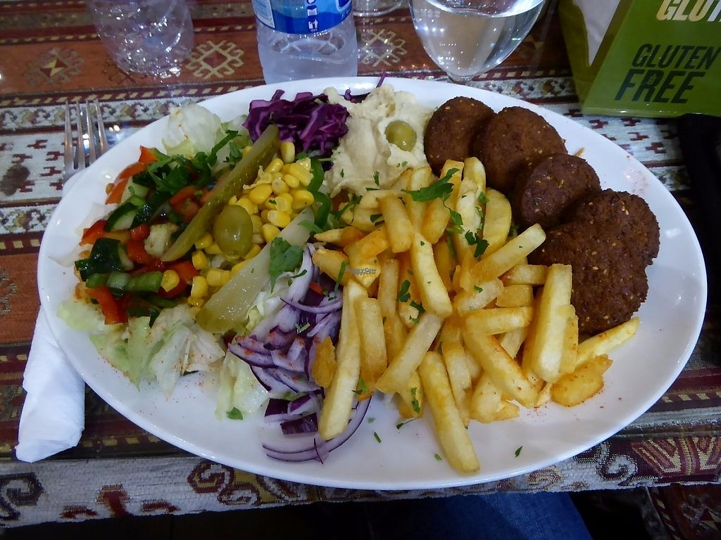 """Photo of Bella Istanbul  by <a href=""""/members/profile/VeganNatascha"""">VeganNatascha</a> <br/>Falafelteller mit Pommes, Salat und Hummus <br/> March 5, 2017  - <a href='/contact/abuse/image/58443/232945'>Report</a>"""