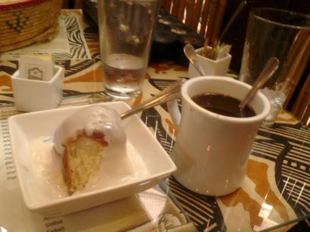 """Photo of Queen of Sheba  by <a href=""""/members/profile/J%20and%20J"""">J and J</a> <br/>Vegan dessert on the menu and Ethiopian coffee.  Absolutely delicious.  Raw sugar is also available.   <br/> May 18, 2015  - <a href='/contact/abuse/image/58460/102655'>Report</a>"""