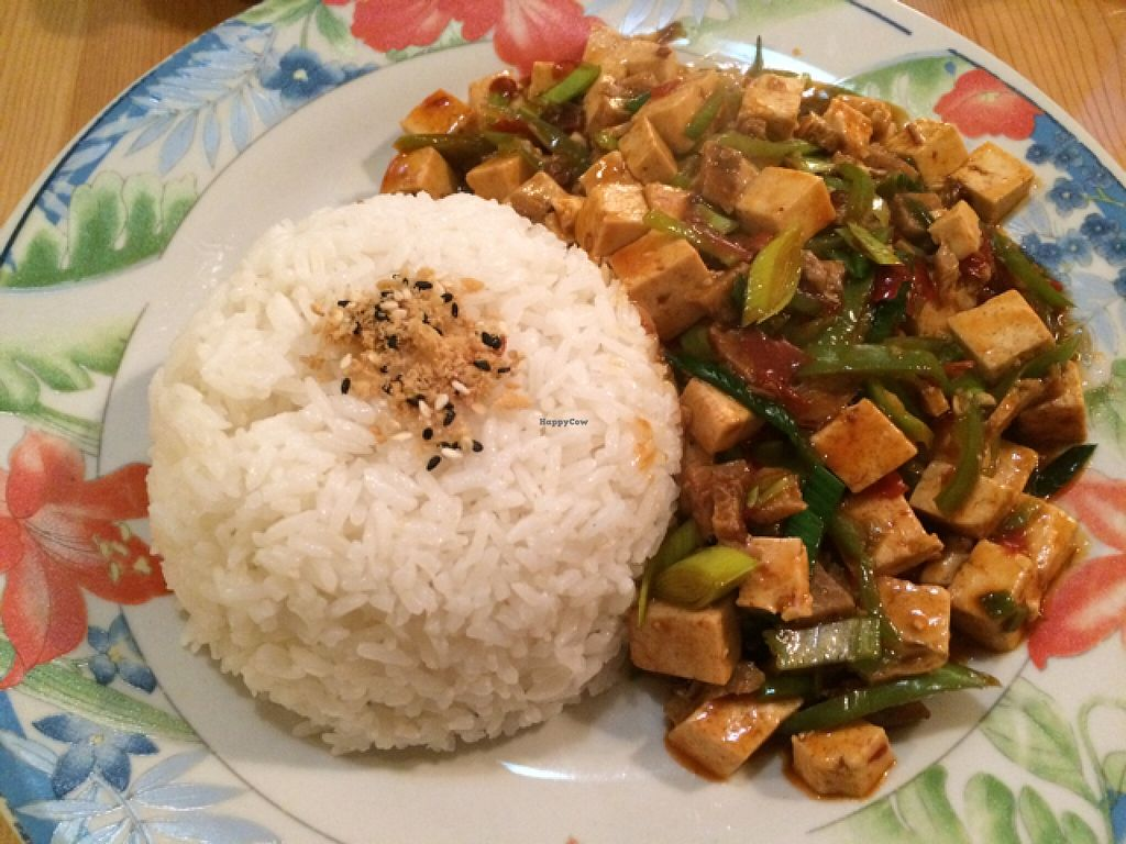 """Photo of Loving Hut  by <a href=""""/members/profile/Claremveg"""">Claremveg</a> <br/>chilli tofu <br/> March 11, 2016  - <a href='/contact/abuse/image/58464/139581'>Report</a>"""