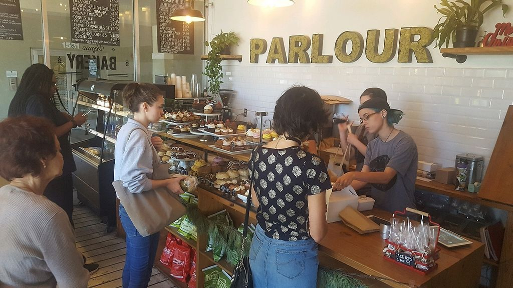 "Photo of Parlour Vegan Bakery  by <a href=""/members/profile/Nataxiah"">Nataxiah</a> <br/>Paying  <br/> January 7, 2018  - <a href='/contact/abuse/image/58475/343840'>Report</a>"