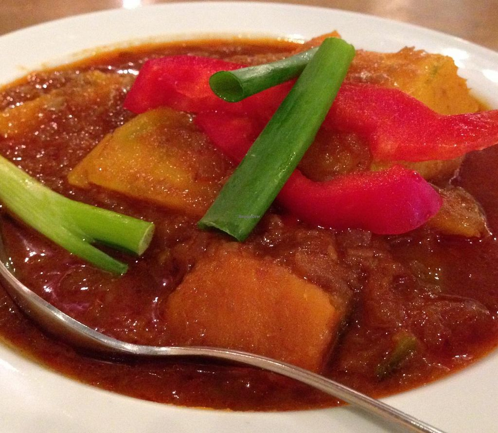 """Photo of A Taste of Burma  by <a href=""""/members/profile/Alysoun%20Mahoney"""">Alysoun Mahoney</a> <br/>A Taste of Burma - Sterling VA - Pumpkin Curry <br/> June 20, 2015  - <a href='/contact/abuse/image/58510/106600'>Report</a>"""