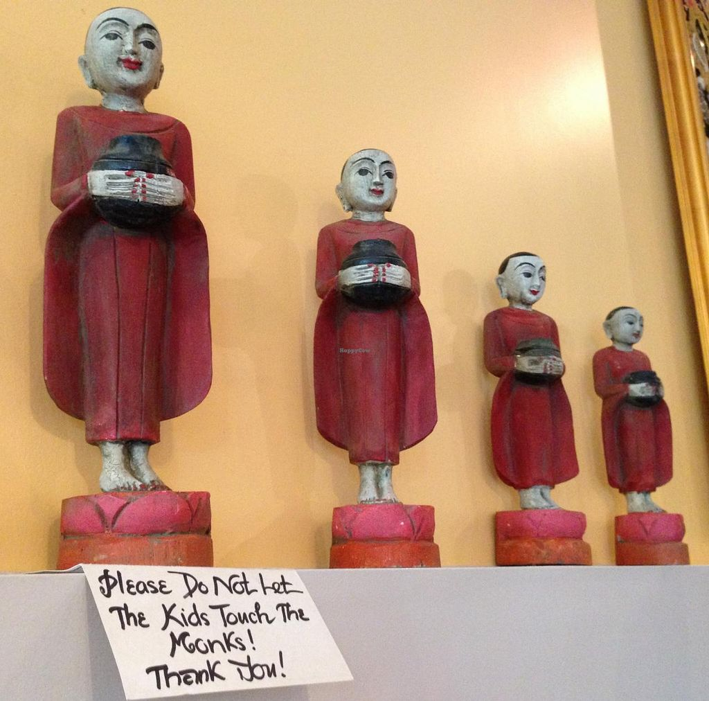 """Photo of A Taste of Burma  by <a href=""""/members/profile/Alysoun%20Mahoney"""">Alysoun Mahoney</a> <br/>A Taste of Burma - Sterling VA USA - Monk Statues <br/> June 20, 2015  - <a href='/contact/abuse/image/58510/106602'>Report</a>"""