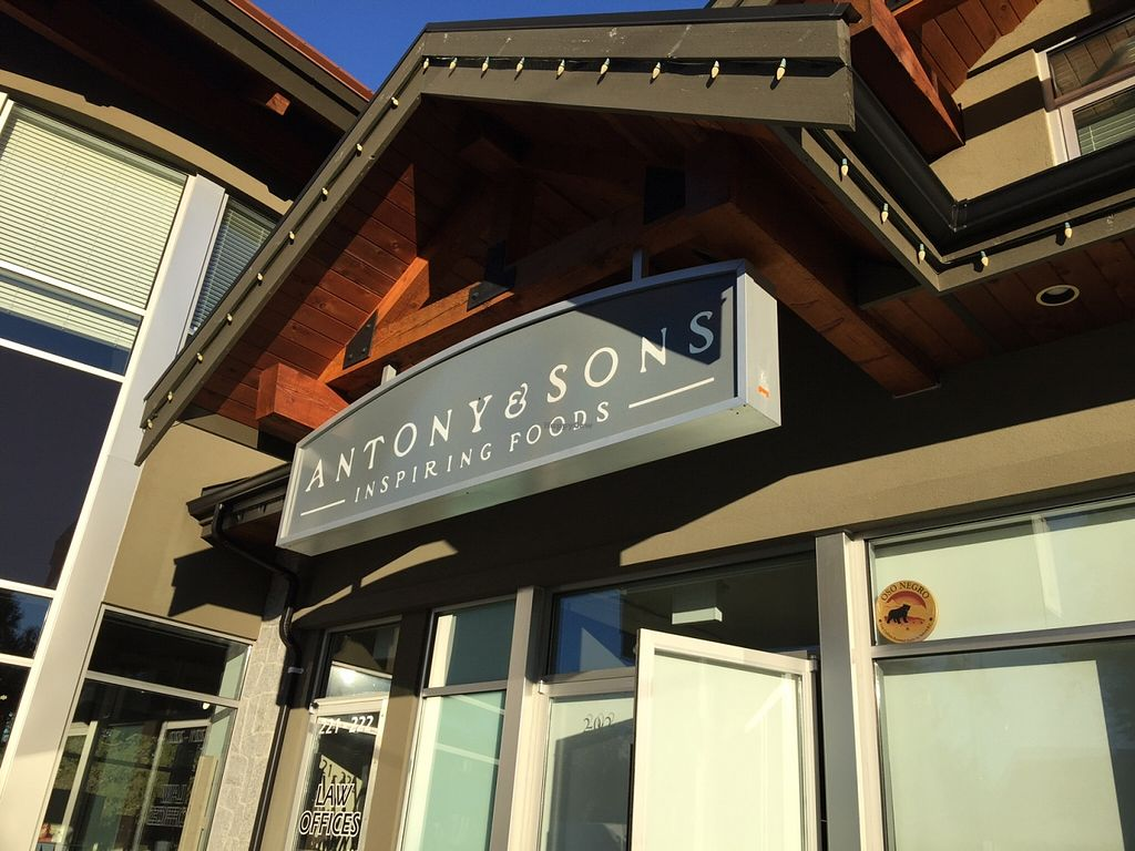 """Photo of Antony and Sons  by <a href=""""/members/profile/Wheat-free%20Vegan"""">Wheat-free Vegan</a> <br/>Antony & Sons store front sign <br/> January 8, 2016  - <a href='/contact/abuse/image/58517/131556'>Report</a>"""