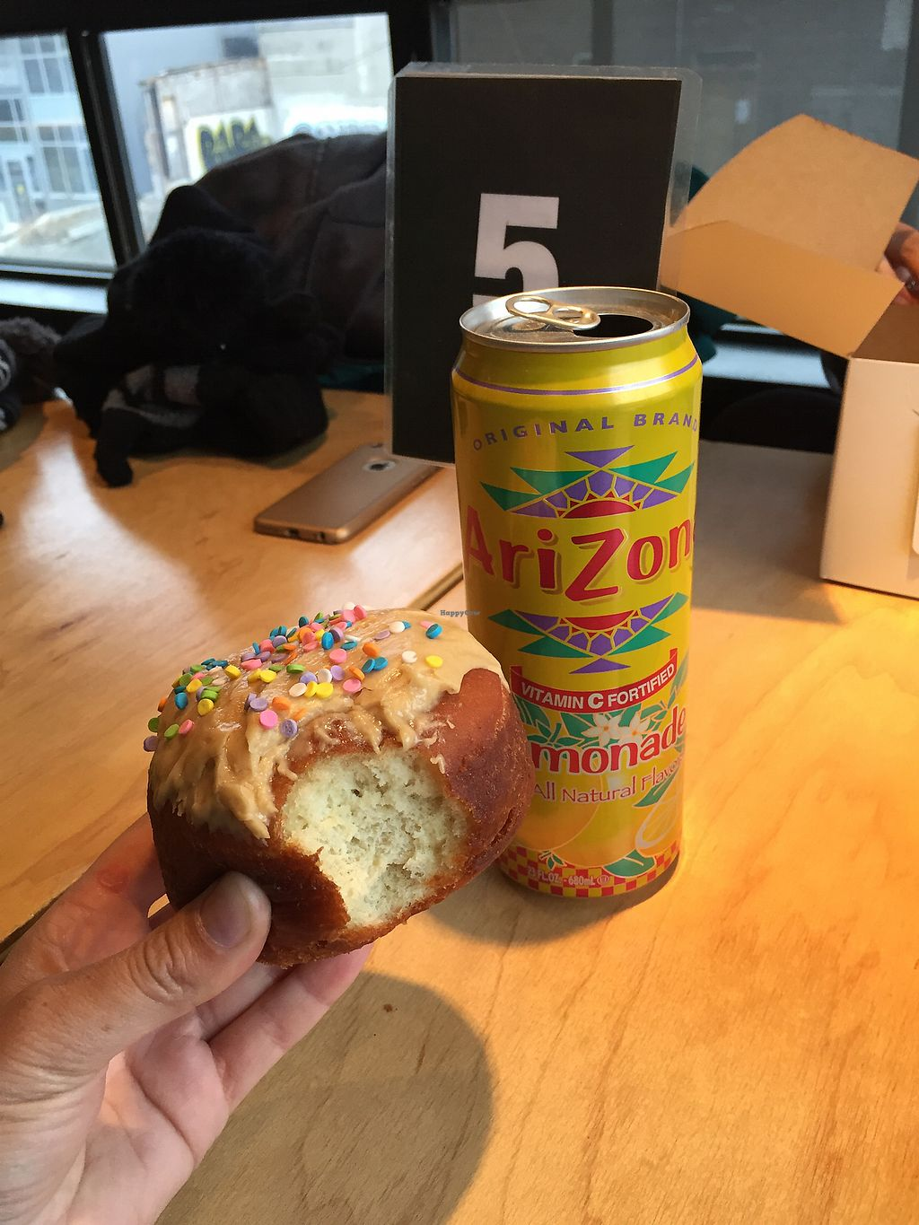 "Photo of Apiecalypse Now Pizza and Snack Bar  by <a href=""/members/profile/laurdanielle"" class=""title__title"">laurdanielle</a> <br/>Peanut butter donut and lemonade <br/> December 24, 2017  - <a href='/contact/abuse/image/58573/338703'>Report</a>"