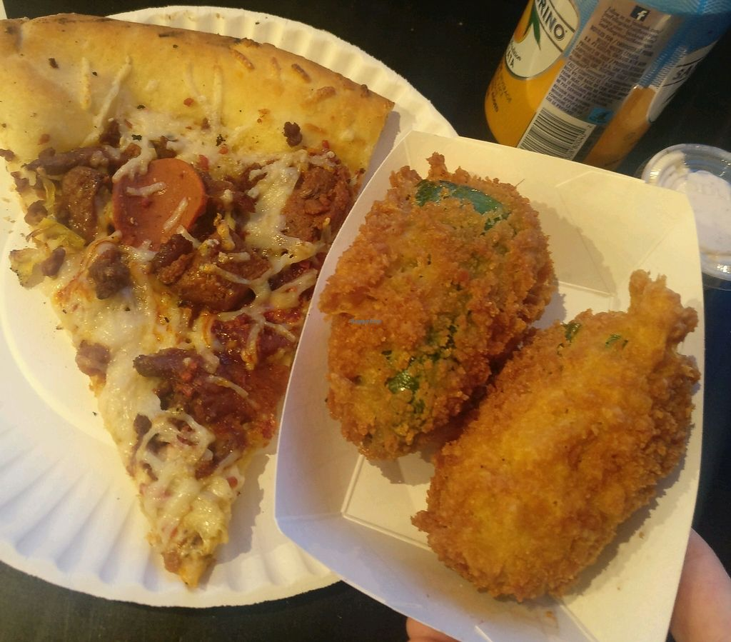 "Photo of Apiecalypse Now Pizza and Snack Bar  by <a href=""/members/profile/rogueavocado"">rogueavocado</a> <br/>Pig Destroyer Destroyer pizza and jalapeno poppers <br/> February 15, 2018  - <a href='/contact/abuse/image/58573/359519'>Report</a>"