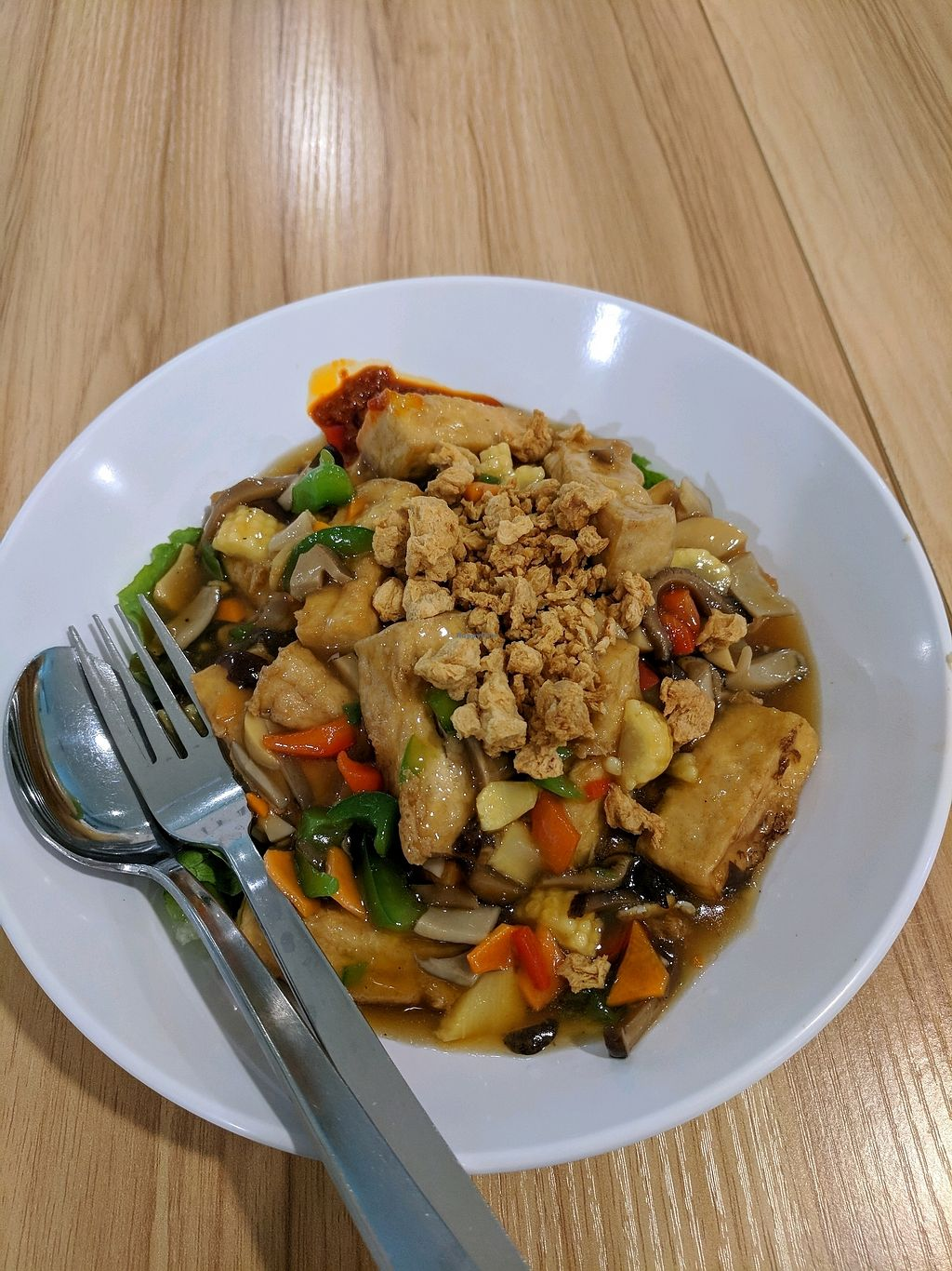 """Photo of Green Delights  by <a href=""""/members/profile/SonyaMohinani"""">SonyaMohinani</a> <br/>braised beancurd with vegetables <br/> October 23, 2017  - <a href='/contact/abuse/image/58585/317935'>Report</a>"""