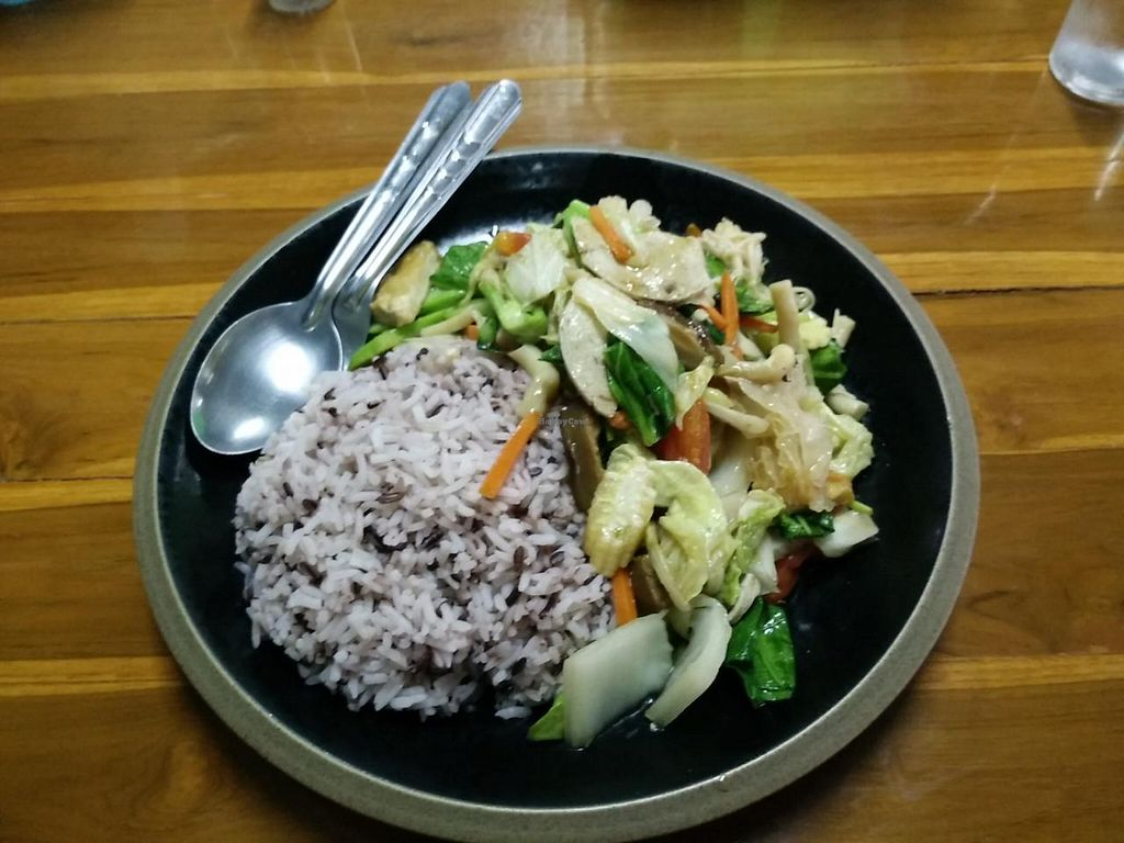 "Photo of Kanjira  by <a href=""/members/profile/InnesPark"">InnesPark</a> <br/>rice and vegetables 30 baht :) <br/> July 4, 2015  - <a href='/contact/abuse/image/58587/108092'>Report</a>"