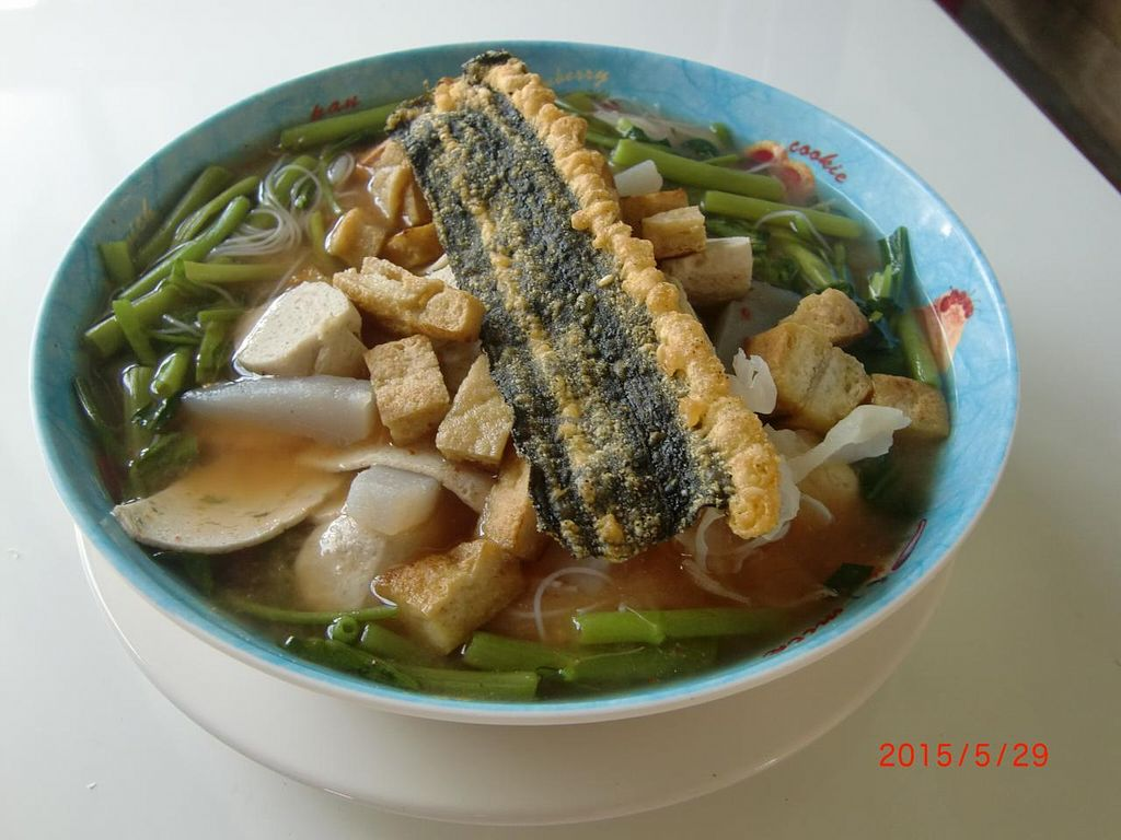 "Photo of Kanjira  by <a href=""/members/profile/KitPhasuporn"">KitPhasuporn</a> <br/>Noodle with Yentafo sauce (Yen ta fo)
