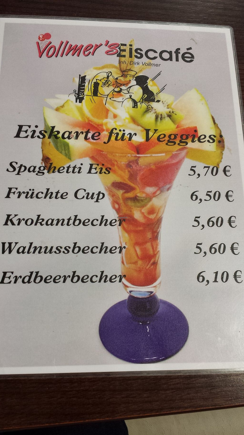 """Photo of Vollmer's Eiscafe  by <a href=""""/members/profile/cherryblossom153"""">cherryblossom153</a> <br/>Speisekarte <br/> August 24, 2015  - <a href='/contact/abuse/image/58590/115028'>Report</a>"""