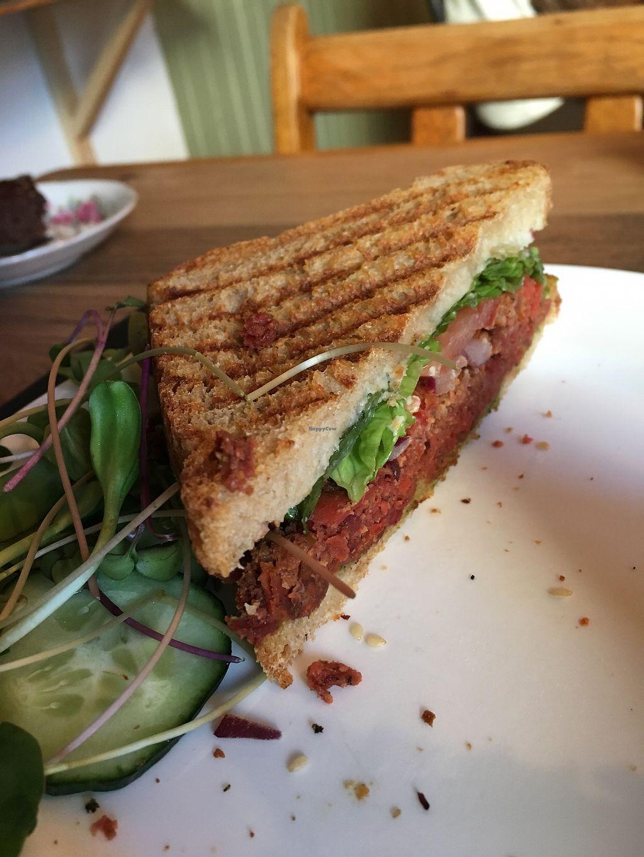 """Photo of Café Tuyo  by <a href=""""/members/profile/MathildeRobichaud"""">MathildeRobichaud</a> <br/>Sandwich végé pomme et pesto!  <br/> December 4, 2017  - <a href='/contact/abuse/image/58596/332280'>Report</a>"""