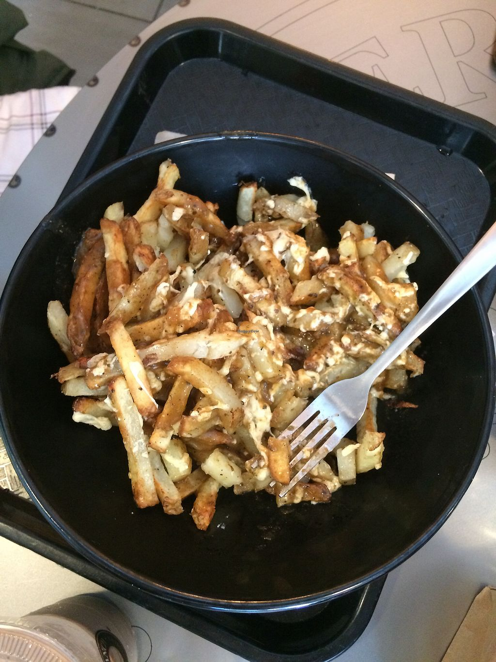 """Photo of Copper Branch - Rene Levesque  by <a href=""""/members/profile/elkekrieger"""">elkekrieger</a> <br/>vegan Poutine (great flavor but slightly soggy)  <br/> August 19, 2017  - <a href='/contact/abuse/image/58602/294487'>Report</a>"""