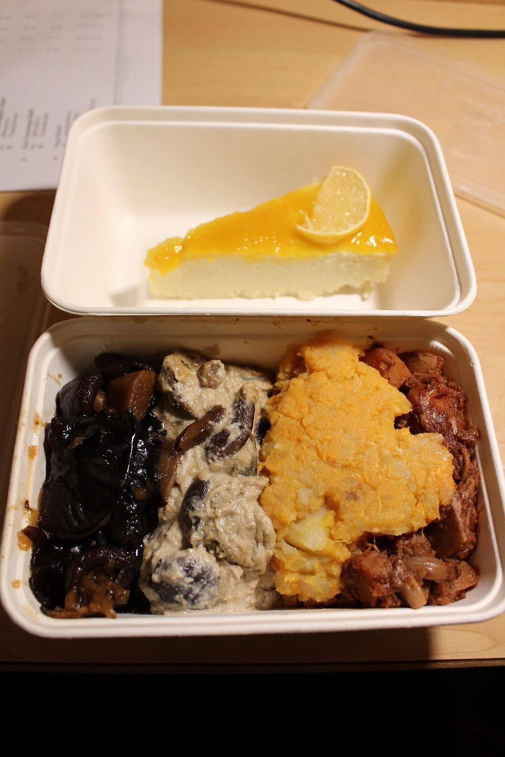 "Photo of CLOSED: Vantra Vitao  by <a href=""/members/profile/ericacrombie"">ericacrombie</a> <br/>Pay-by-the-box and I couldn't decide what to get so I got the mushroom stew, mushroom stroganoff, mash and BBQ jackfruit. The mash and jackfruit were nice, the mushroom dishes not so much but I think that's because I got them at 10:30pm and they'd been sitting there for probably hours making the mushrooms rubbery. Also got a lemon cheesecake which I wasn't a fan of but other people might like it.  <br/> September 23, 2017  - <a href='/contact/abuse/image/5861/307311'>Report</a>"