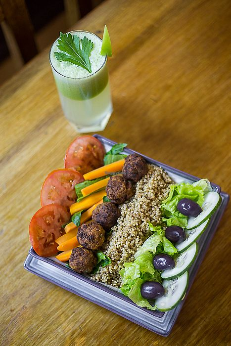 """Photo of Prem  by <a href=""""/members/profile/Hootinthehouse"""">Hootinthehouse</a> <br/>The Buddah Bowl with a detox juice. I'm a traveling photographer and thought I'd snap a shot of my bowl for Prem. They're really amazing people doing incredible things for the community! <br/> June 8, 2017  - <a href='/contact/abuse/image/58638/266853'>Report</a>"""