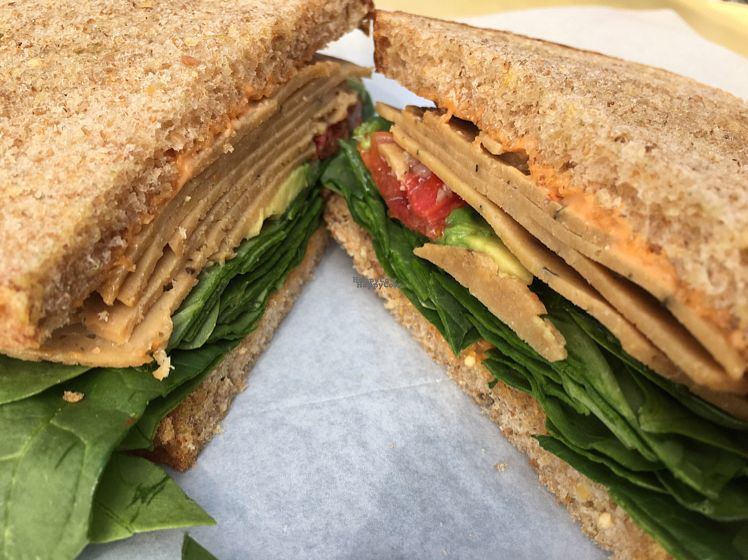 """Photo of Durham Co-op Market  by <a href=""""/members/profile/stephen%2Bmusgrave"""">stephen+musgrave</a> <br/>House-made, un-turkey, vegan sandwich.  <br/> October 16, 2016  - <a href='/contact/abuse/image/58642/182448'>Report</a>"""
