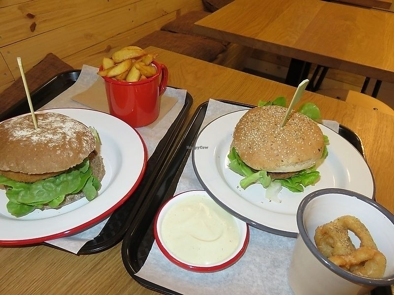 "Photo of Loving Hut Veganerie  by <a href=""/members/profile/TrudiBruges"">TrudiBruges</a> <br/>Burgers at Loving Hut veganerie, Leuven <br/> September 25, 2017  - <a href='/contact/abuse/image/58660/308155'>Report</a>"