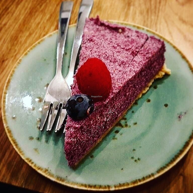 "Photo of Loving Hut Veganerie  by <a href=""/members/profile/TytoAlba"">TytoAlba</a> <br/>Vegan cake <br/> February 14, 2018  - <a href='/contact/abuse/image/58660/359370'>Report</a>"