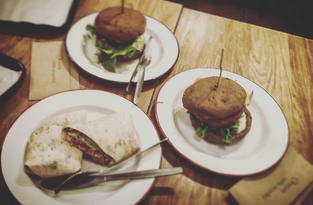 "Photo of Loving Hut Veganerie  by <a href=""/members/profile/TytoAlba"">TytoAlba</a> <br/>Burgers and wraps <br/> February 14, 2018  - <a href='/contact/abuse/image/58660/359372'>Report</a>"