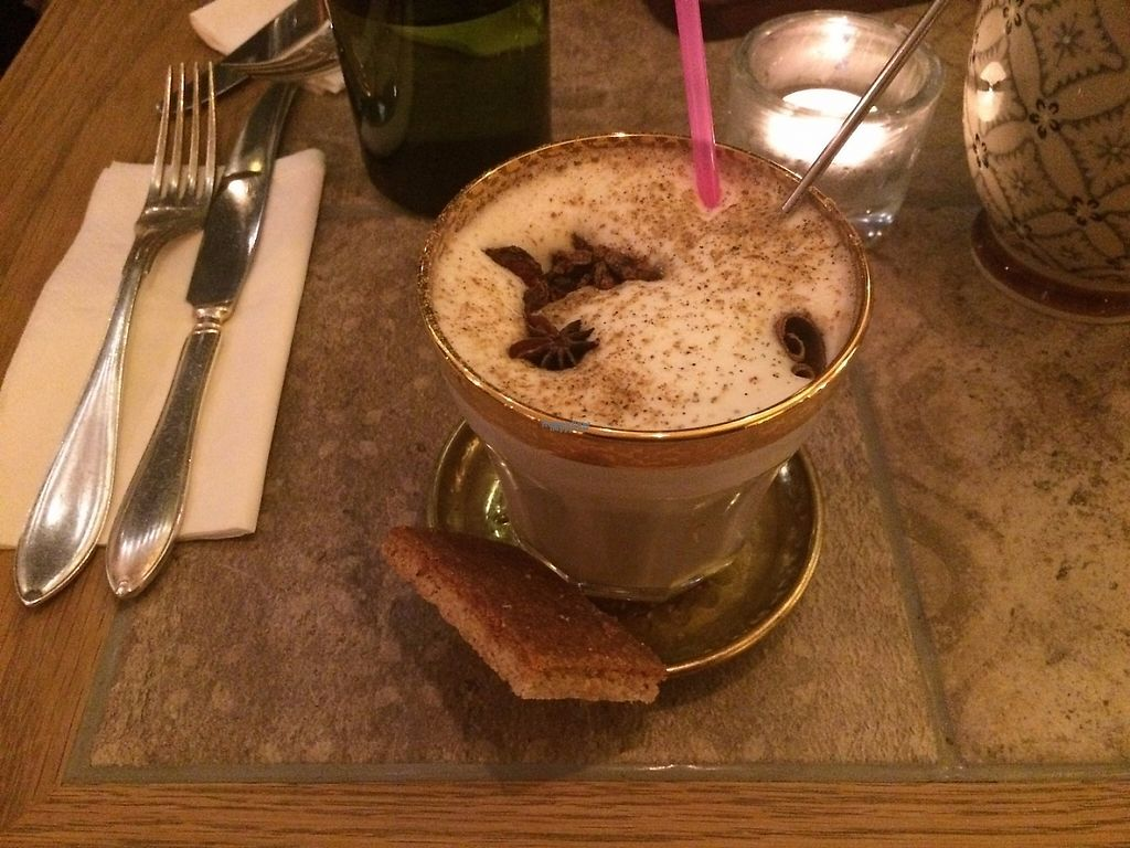 """Photo of Sajvva  by <a href=""""/members/profile/LisaCupcake"""">LisaCupcake</a> <br/>Hot chai with oat milk <br/> January 5, 2017  - <a href='/contact/abuse/image/58669/208388'>Report</a>"""