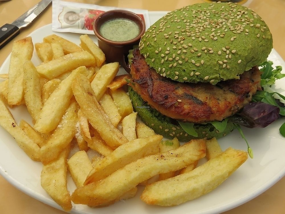 "Photo of Paal 9  by <a href=""/members/profile/TrudiBruges"">TrudiBruges</a> <br/>Dutch weedburger with fries