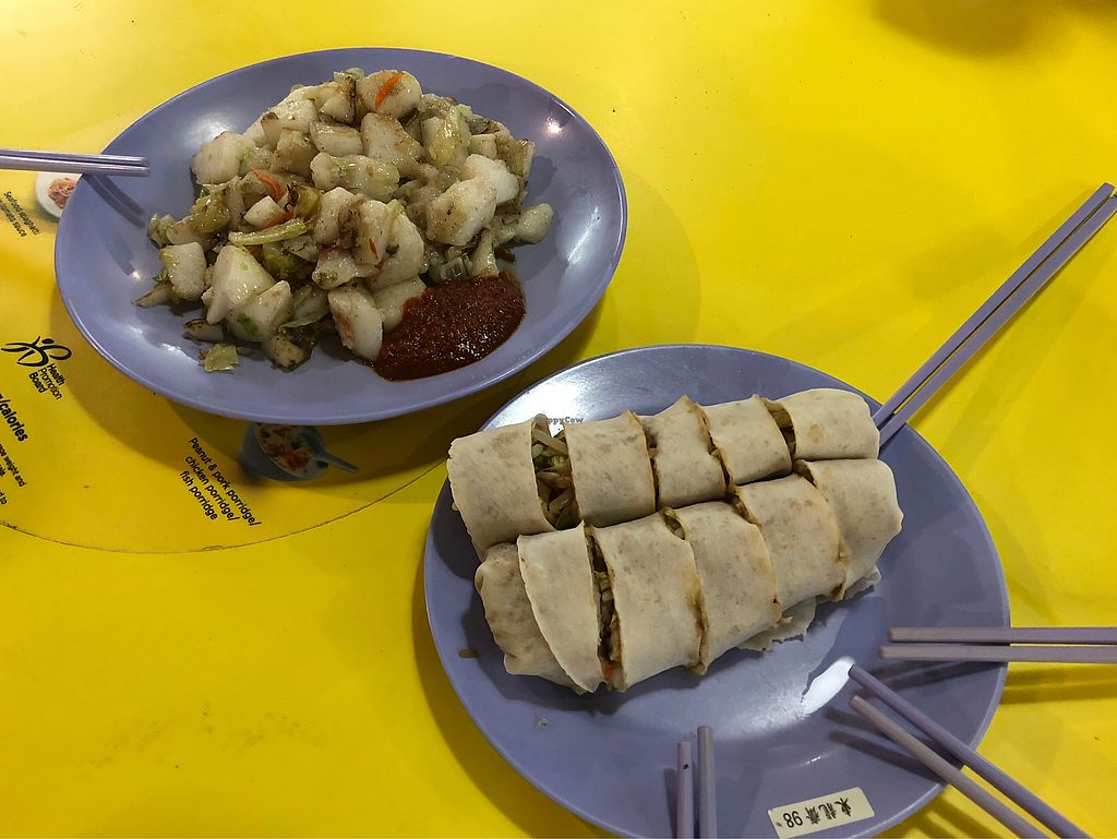 "Photo of Tang Leng Chay Vegetarian - temporarily closed  by <a href=""/members/profile/CherylQuincy"">CherylQuincy</a> <br/>Eggless fried carrot and popiah <br/> February 9, 2018  - <a href='/contact/abuse/image/58700/356856'>Report</a>"