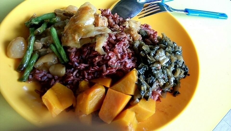 """Photo of Spring Vegetarian - temporarily closed  by <a href=""""/members/profile/AlexLim"""">AlexLim</a> <br/>They serve brown rice! <br/> September 26, 2016  - <a href='/contact/abuse/image/58710/177992'>Report</a>"""