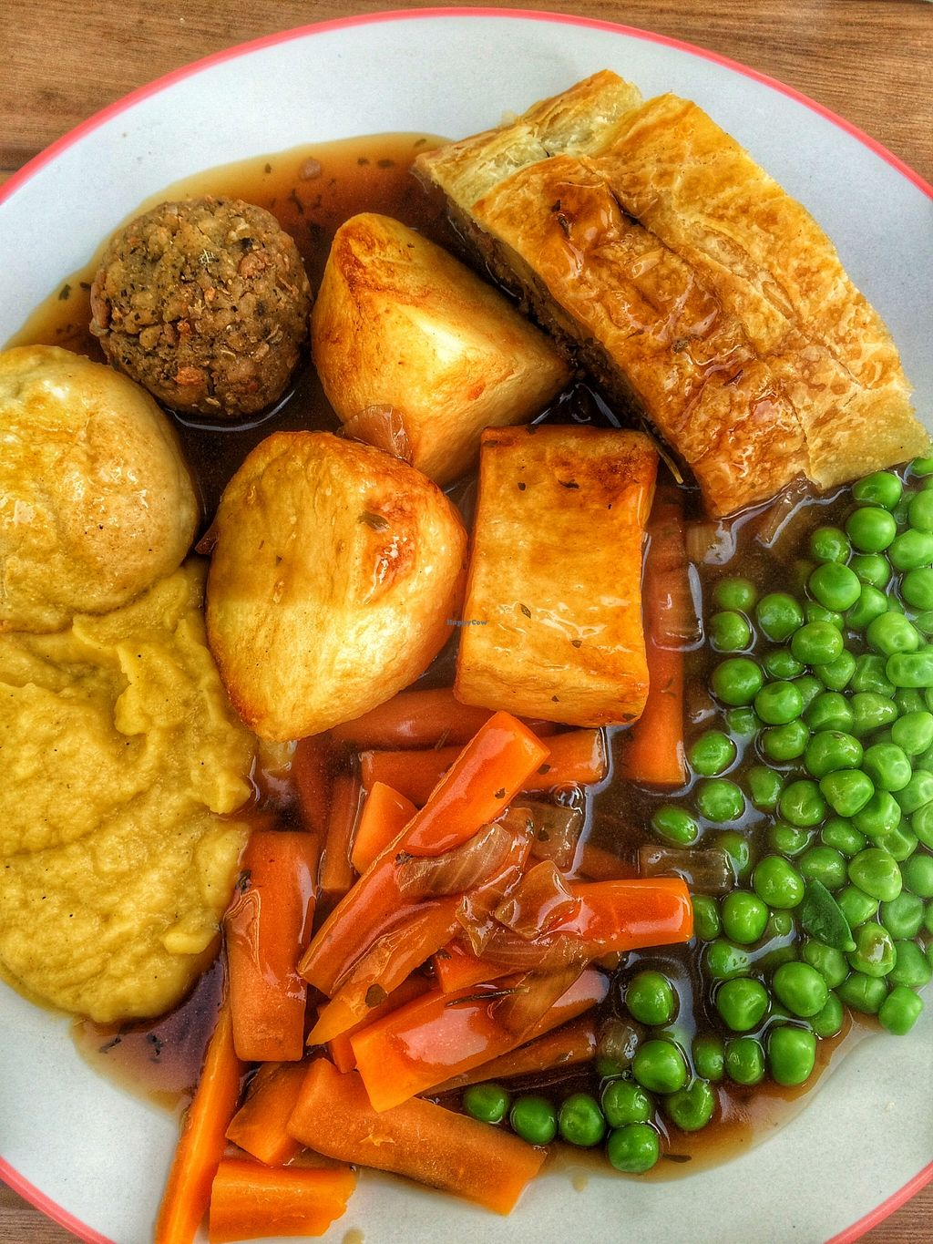 """Photo of Loving Hut Cafe - St Peter's Place  by <a href=""""/members/profile/Edible%20Journey"""">Edible Journey</a> <br/>Sunday nut roast at the Loving Hut, The Level Brighton <br/> October 26, 2015  - <a href='/contact/abuse/image/58717/122720'>Report</a>"""