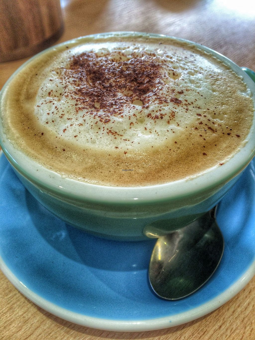 """Photo of Loving Hut Cafe - St Peter's Place  by <a href=""""/members/profile/Edible%20Journey"""">Edible Journey</a> <br/>Soya milk cappucino (my first but not my last!!) <br/> October 26, 2015  - <a href='/contact/abuse/image/58717/122721'>Report</a>"""