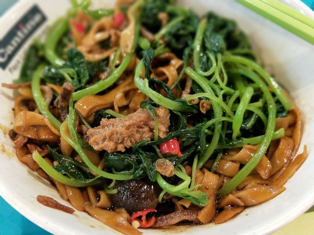 """Photo of Xuan Miao Vegan - Paya Lebar Square   by <a href=""""/members/profile/ioncat"""">ioncat</a> <br/>Protip: Try mixing veggies from the soup included with the ban mian dry. Yum! <br/> July 20, 2017  - <a href='/contact/abuse/image/58745/282493'>Report</a>"""