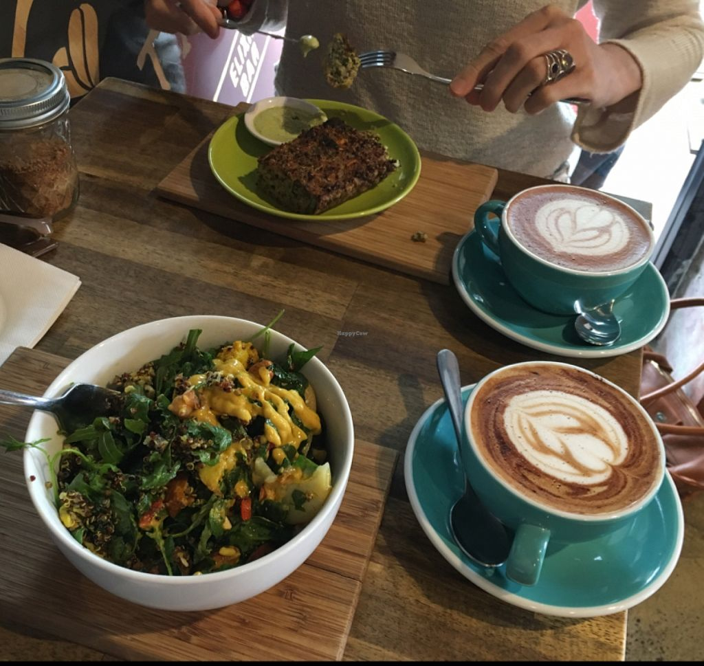 "Photo of Nutrition Republic  by <a href=""/members/profile/aforamy"">aforamy</a> <br/>Quinoa and egg slice, two kinds of salad, coffee and a hot chocolate.  <br/> March 26, 2016  - <a href='/contact/abuse/image/58760/141456'>Report</a>"