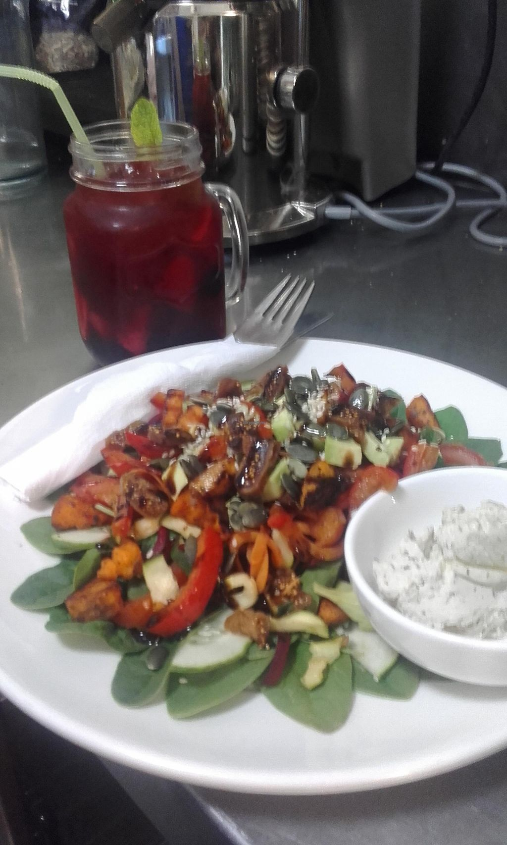 """Photo of CLOSED: Healthy Harvest   by <a href=""""/members/profile/Maria%20Marshall"""">Maria Marshall</a> <br/>Amazing  salads with cashew  cream  cheese  <br/> March 14, 2016  - <a href='/contact/abuse/image/58761/140026'>Report</a>"""