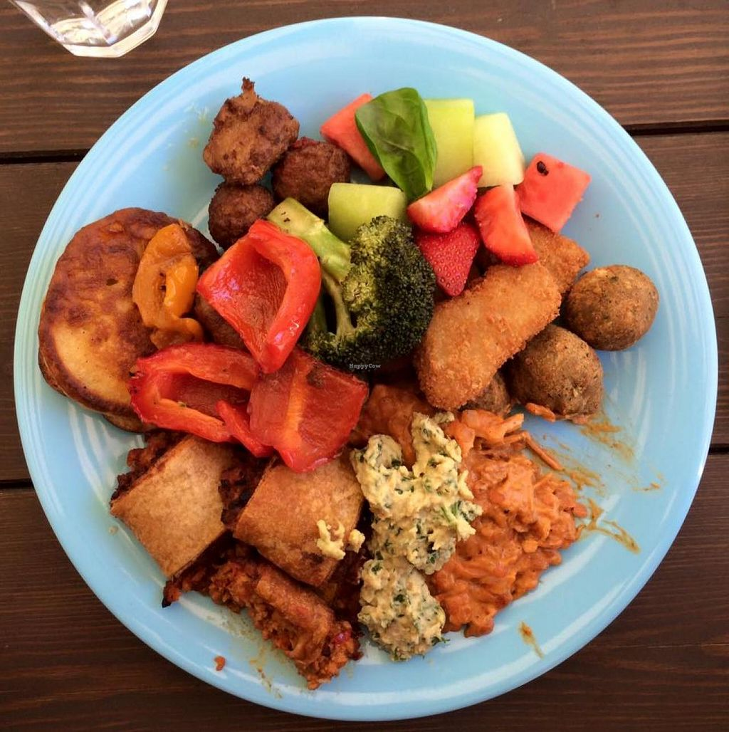 """Photo of The Green Room  by <a href=""""/members/profile/jchandersson"""">jchandersson</a> <br/>Samples of about 1/3 of the menu in an attempt to try it all, everything is vegan with plenty of choices suitable to non-vegans alike <br/> June 13, 2015  - <a href='/contact/abuse/image/58770/105754'>Report</a>"""